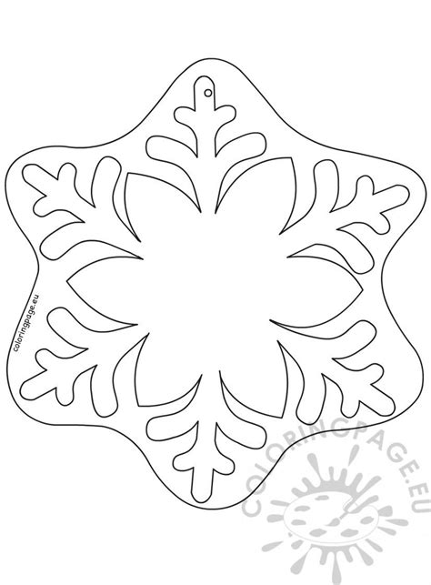 snowflake christmas ornament pattern coloring page