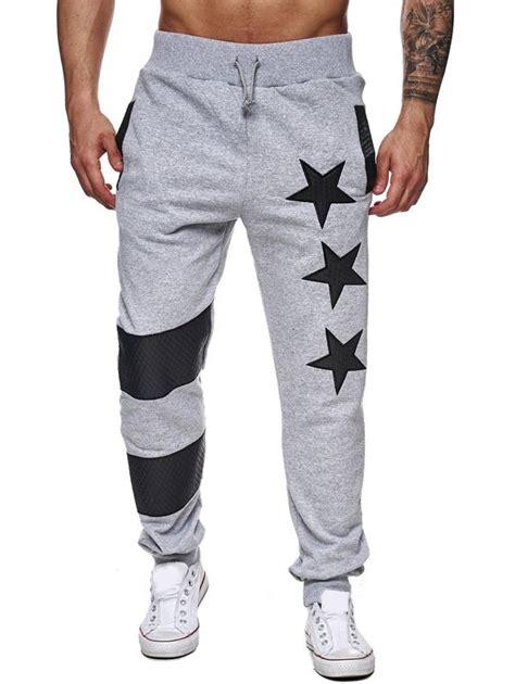 Drawstring Printed Sweatpants printed splicing drawstring waist jogger
