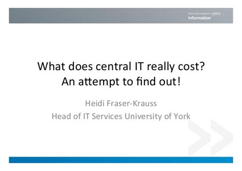 Cost Of Mba Liverpool by What Does Central It Really Cost An Attempt To Find Out