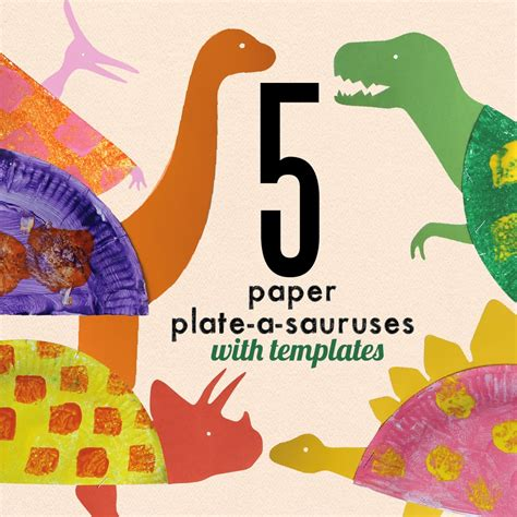 Paper Dinosaur Craft - learn with play at home paper plate dinosaur craft for