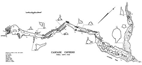 caverns in texas map cascade cavern texas speleological survey tss cave records publications national speleological