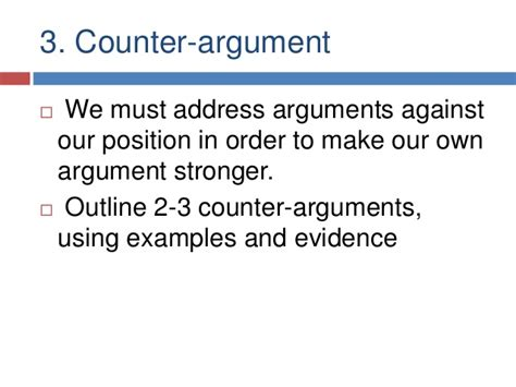 In A Research Paper Would Counter Arguments Be Necessary by Argumentative Essays