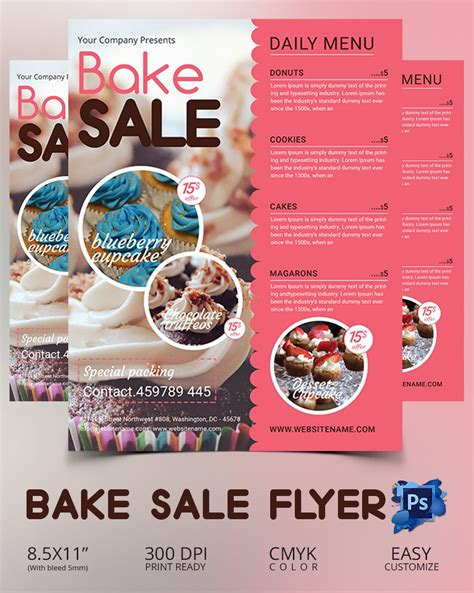 Bake Sale Flyer Template 34 Free Psd Indesign Ai Format Download Free Premium Templates Bake Sale Flyer Template