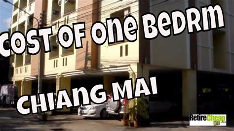 cost of one bedroom apartment cost of one bedroom apartment rentals chiang mai youtube