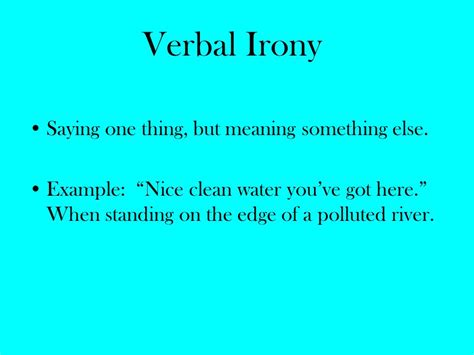 irony types exles ppt video online download