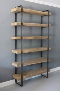wood shelving systems 25 best ideas about industrial bookshelf on