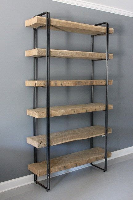 urban wood reclaimed 3 white oak shelf shelving unit by