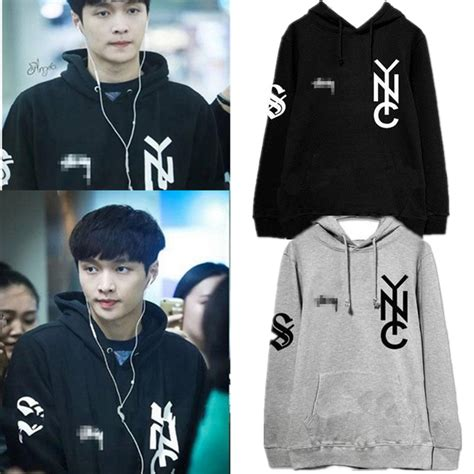 Zipper Hoodie Sweater Exo Kpop us 15 99 allkpoper kpop exo lay cap hoodie airport fashion sweater unisex sweatershirt