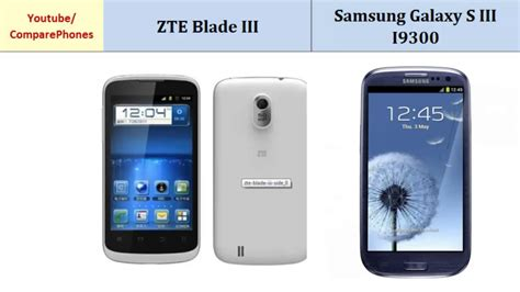 Samsung Zte Zte Blade Iii Versus Samsung Galaxy S3 I9300 Features Compared