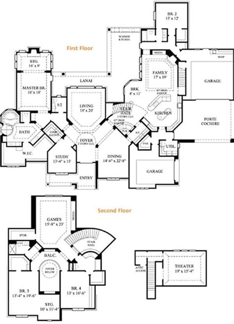 6000 sq ft home plans floor plan 6000 sq ft for the home pinterest