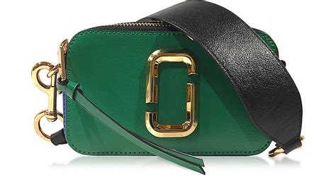 Marc Sanpshoot Sling Bag marc snapshot green grass saffiano leather small bag at forzieri
