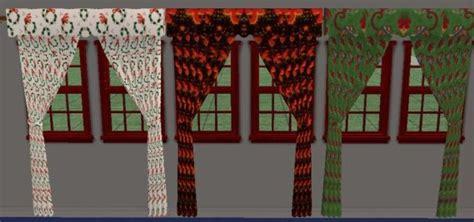 christmas curtain panels mod the sims christmas curtains
