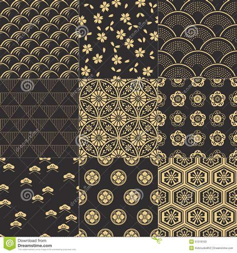 geometric pattern japanese seamless japanese pattern set stock vector image 51519103