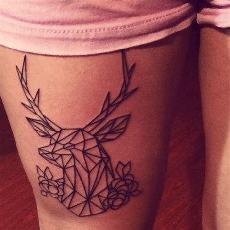 tattoo geometric deer geometric deer tattoo tattoos i love pinterest