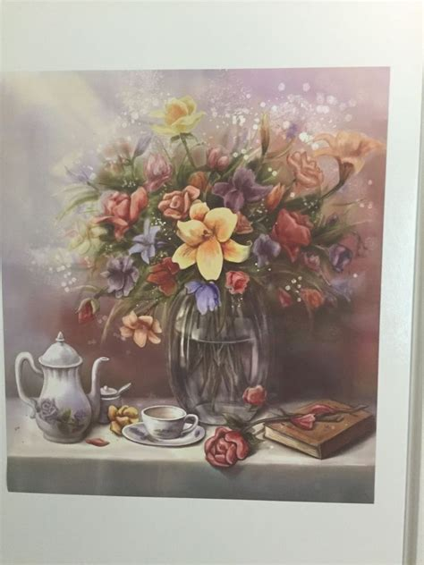 Floral Kitchen Decor by Flower Bouquet Dishwasher Magnet Tea Set