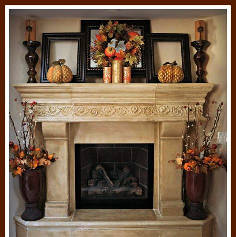 chimney decoration ideas brick rustic mantel decor for classic fireplace with frame
