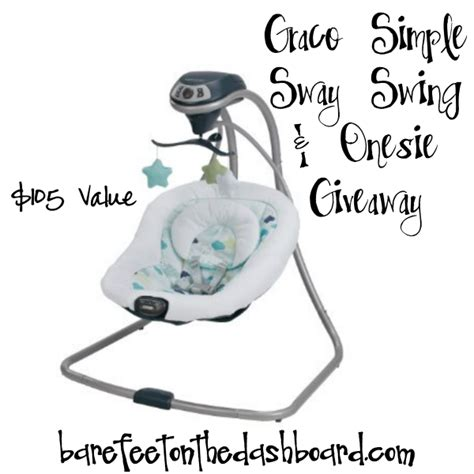 graco faith swing graco 174 baby giveaway win the graco 174 simple sway swing