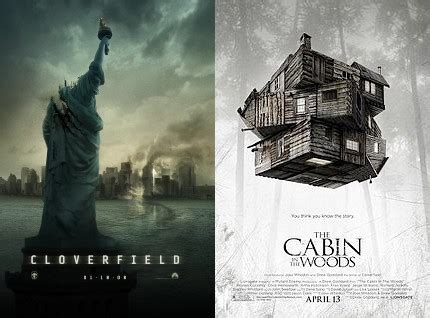 similarities between cloverfield and the cabin in the woods
