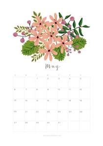 Calendar 2018 May Month Printable May 2018 Calendar Monthly Planner Flower