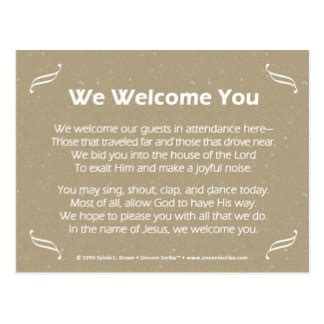 christmas welcome address for church religious welcome poems