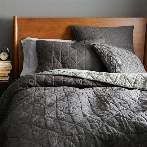 grey quilted coverlet 17 fabulous modern bedding finds
