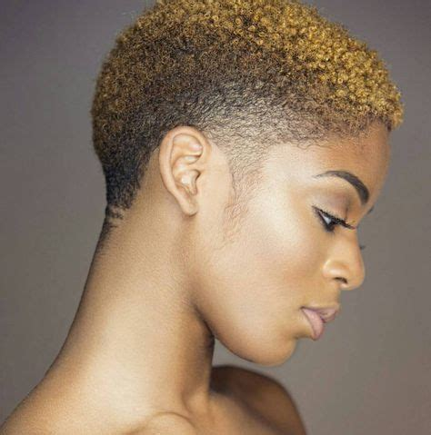women fade hairstyle with honeyblonde hair color short natural hairstyles natural hairstyles for short hair