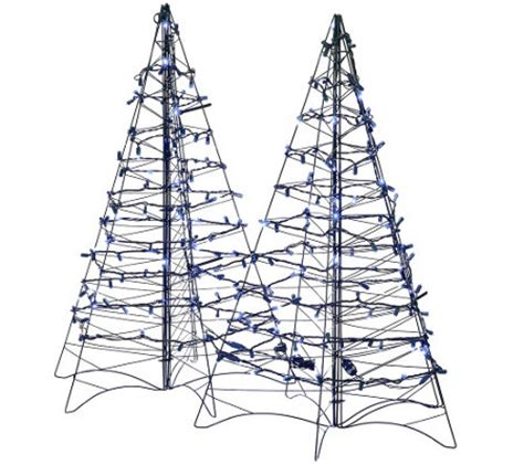 outdoor lit tree s 2 pre lit led 3 fold flat outdoor trees by