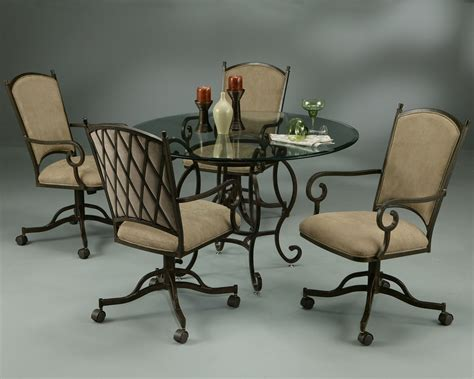 Chairs On Casters For Dining Table Atrium Dining Table With Atrium Caster Chairs