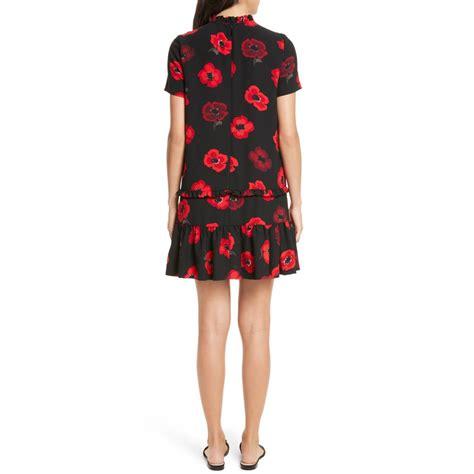Print Shift Dress kate spade ruffle poppy print shift dress evachic