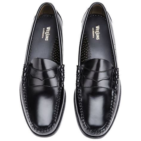 mens bass weejuns loafers bass weejuns s larson moc leather loafers