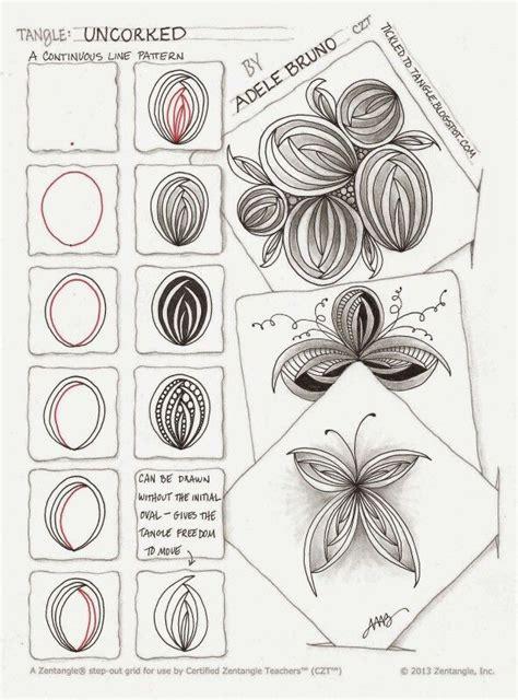 doodle pattern tutorial 4749 best images about zentangle tutorials on pinterest