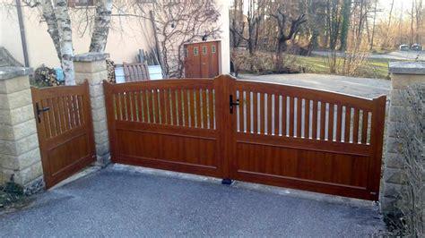 portail motorisé pas cher 1439 awesome portail pvc couleur bois with portail pas cher pvc