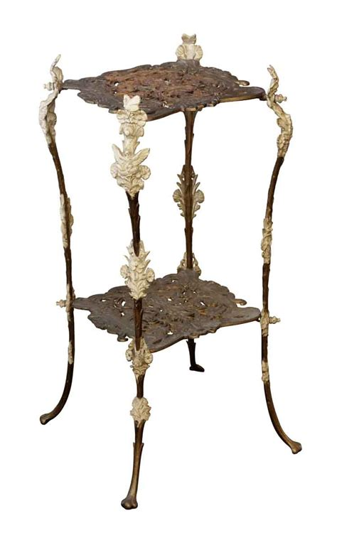 tier wrought iron side table olde good