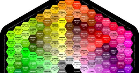 tavola colori html vita da vivere trucchi e curiosit 224 tabella codici
