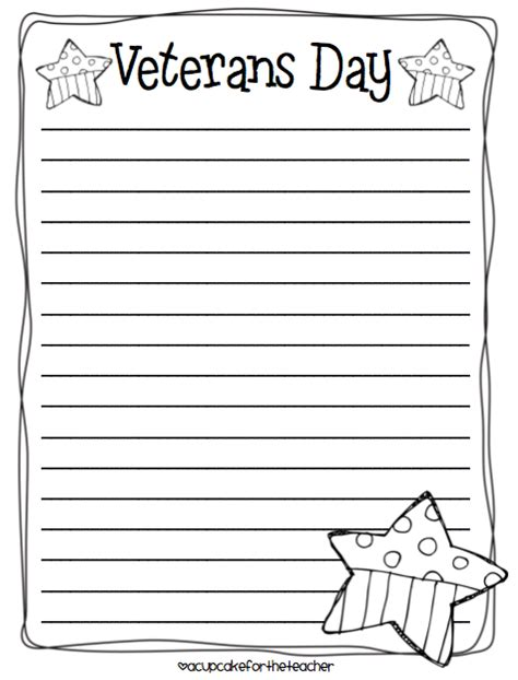 printable writing paper for veterans day best photos of veterans day writing paper template