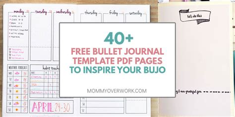 Free Bullet Journal Printables Pdf 100 motivational habit tracker ideas unique spreads