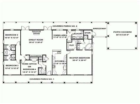 Four Bedroom Floor Plans Single Story by Eplans Ranch House Plan Single Story Southern