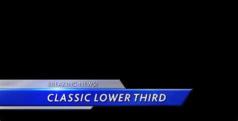 Classic Lower Third By Nurby Videohive Propresenter Lower Third Templates