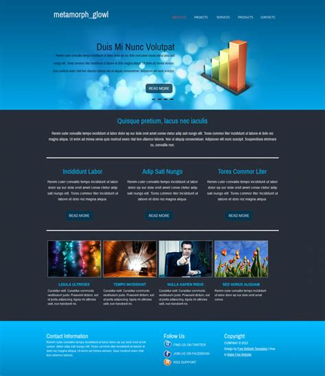 free html5 templates for business free html5 business css template glowl templates