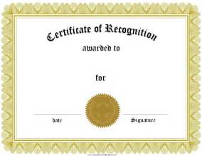 search results for blank certificate of recognition