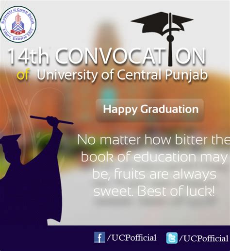 Mba Graduation Quotes by Of Central Punjab Ucp 14th Convocation 2013