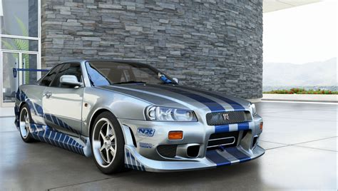 nissan r34 paul walker r34 nissan forza 6 showcase paul walker nissan r34 gtr