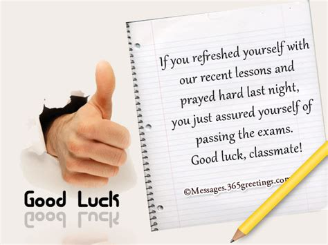 Good Luck Messages for Exam - 365greetings.com Final Exam Wishes