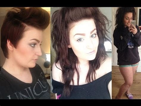 pixie cut to hair extensions pictures pixie cut to messy half up 90 s inspired hair tutorial
