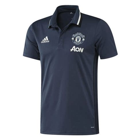 Polo Shirttshirtkaos Kerah Adidas Manchester United 2016 2017 utd adidas polo shirt mineral blue for only c 38 86 at