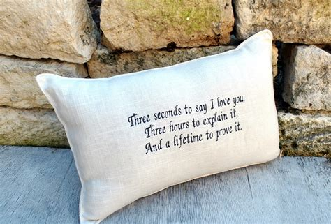 Embroidered Pillows With Sayings by Quote Embroidered Pillow With Quote By Yellowbugboutique