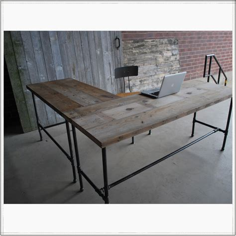 cool wooden desks l shaped reclaimed wood desk modern office furniture