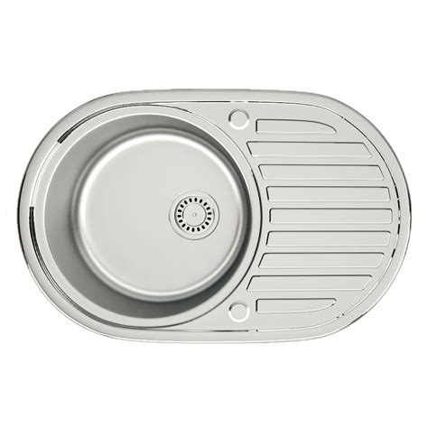 small round kitchen sinks new stainless steel kitchen sink reversible 1 0 1 5 bowl
