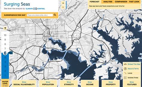 maryland flood map maryland surging seas sea level rise analysis by