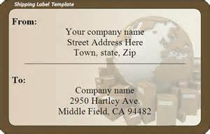 shipping address label template shipping label template word excel formats